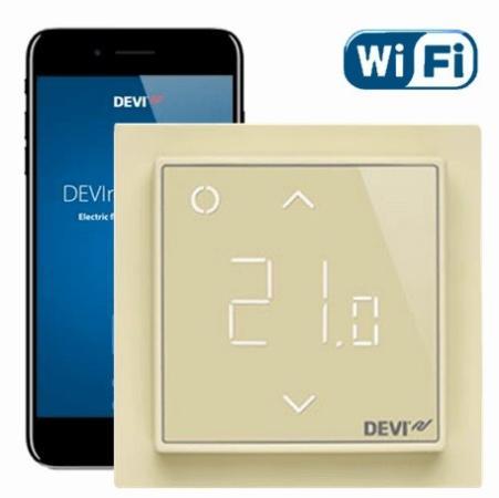 140F1142 DEVIreg Smart интеллектуальный с Wi-Fi, бежевый, 16 А цена и фото