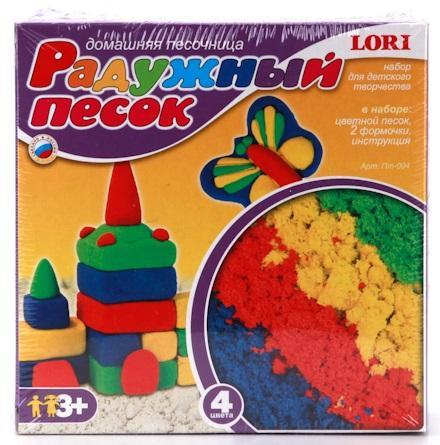 Набор Lori Радужный 4 цвета lori набор для детского творчества радужный песок принцессы disney 4 цвета