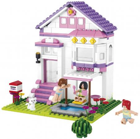 Конструктор SLUBAN Вилла с бассейном 291 элемент M38-B0532 b0532 sluban girl friends beauty swimming pool villa model building blocks enlighten figure toys for children compatible legoe