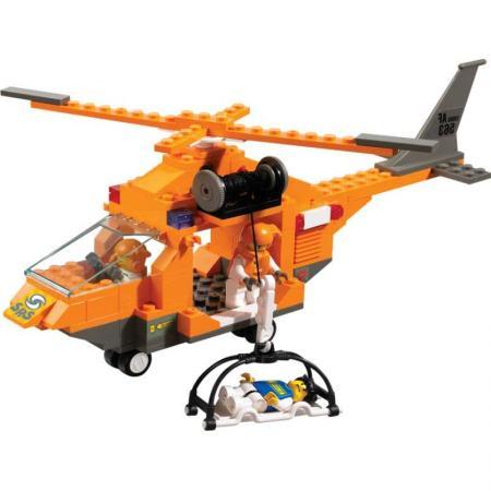 Конструктор SLUBAN Спасательный вертолет 160 элементов M38-B0102 вертолет brio спасательный вертолет с 3 х лет 7312350337976