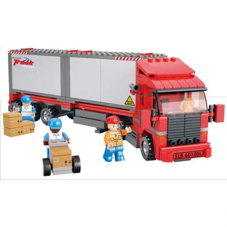 Конструктор SLUBAN Большой красный грузовик 345 элементов M38-B0338 конструктор sluban большой красный грузовик 345 элементов m38 b0338