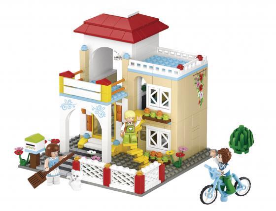 Конструктор SLUBAN Загородный дом 380 элементов M38-B0533 конструктор sluban дом с машиной 305 элементов m38 b0572