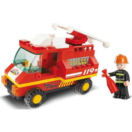 Конструктор SLUBAN Пожарная машина 74 элемента M38-B0173 конструктор металлический пожарная машина 239 детали