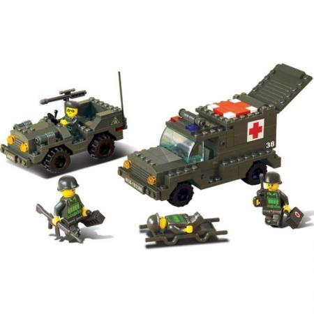 Конструктор SLUBAN Санитарный автомобиль и джип 229 элементов M38-B6000 конструктор sluban land 2 forces военный автомобиль 175 элементов m38 b0297