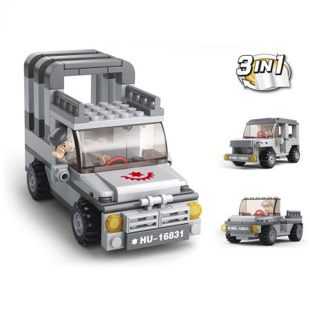 Конструктор SLUBAN 3 в 1 Army 110 элементов M38-B0537A 0587 sluban army series 8 in 1 military tank truck model building blocks enlighten diy figure toys for children compatible legoe