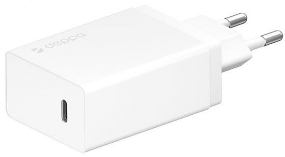 Сетевое зарядное устройство Deppa Power Delivery 3 А белый 11388 сетевое зарядное устройство deppa power delivery 30вт usb type c белый 11388
