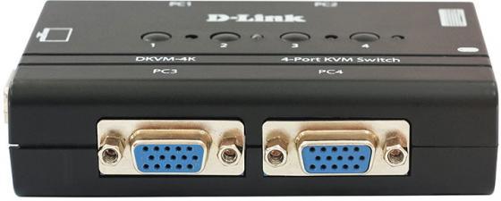 Переключатель D-Link Pro Connect 4 port KVM connect 4 woorkbook