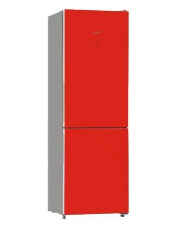 Холодильник HIBERG RFC-311DX NFGR красный холодильник hiberg rft 65d nfy