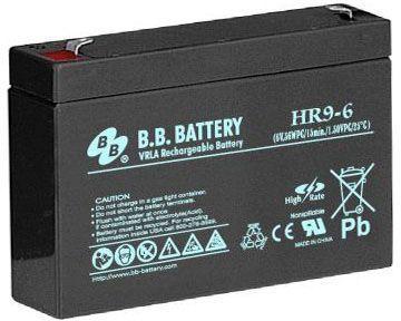 Батарея для ИБП BB HR 9-6 6В 9Ач батарея для ибп bb hr 9 12 12в 9ач