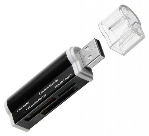 Устройство чтения карт памяти USB2.0 Buro BU-CR-3101 черный устройство чтения карт памяти buro usb2 0 bu cr 3101 черный