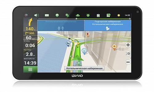 Навигатор Автомобильный GPS Lexand SB7 HD 7 1024x600 4Gb microSDHC Bluetooth FM-Transmitter черный Прогород Россия + 60 стран