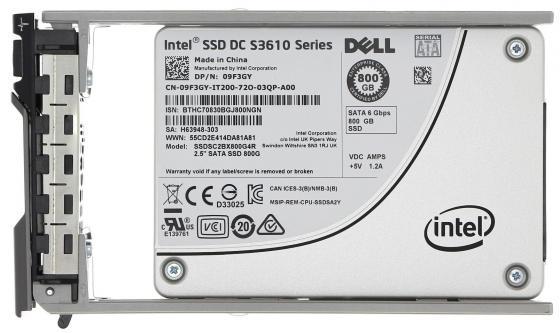 Фото - Накопитель SSD Dell 1x800Gb SATA для 13G 9F3GY Hot Swapp 2.5/3.5 велосипедные спицы 13g 151 170 2 2 13g