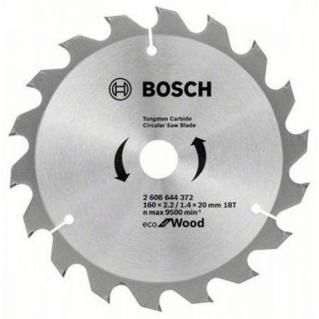 BOSCH 2608644373 Пильный диск ECO WO 160x20/16-24T пильный диск bosch exp wo 165x20 48t 2 608 644 024 ф165х20мм 48 зуб
