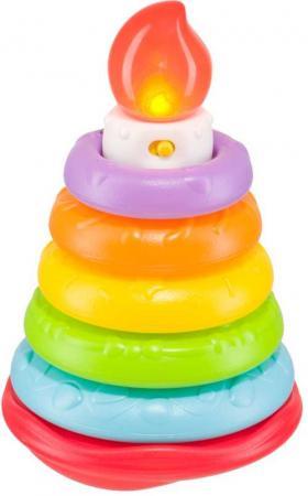 Пирамидка HAPPY BABY 330080 HAPPY CAKE музыкальная game inflatable cylinder gymex happy baby 121009