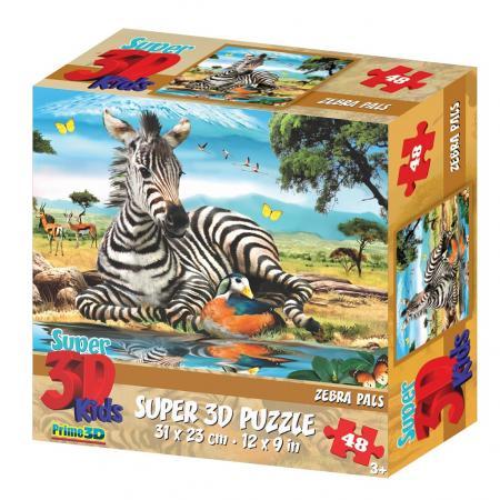 Пазл 3D 48 элементов Prime 3d Зебра 13601 цена