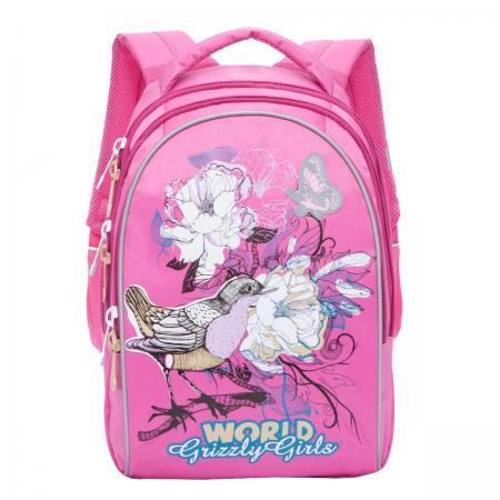 Рюкзак GRIZZLY RG-868-2/1 Птицы (розовый) цены онлайн