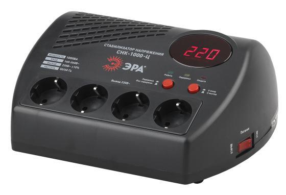 ЭРА Б0031072 СНК-1000-Ц Стабилизатор напр. компакт, ц.д., 160-260В/220В, 1000ВА эра стабилизатор sta 1000