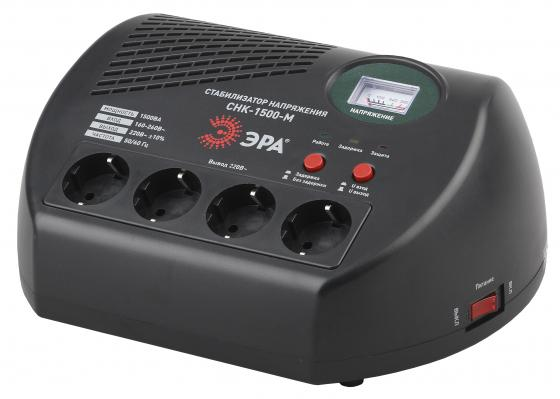 ЭРА Б0031068 СНК-1500-М Стабилизатор напр. компакт, м.д., 160-260В/220В, 1500ВА