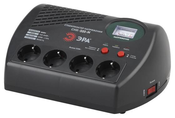 ЭРА Б0031066 СНК-500-М Стабилизатор напр. компакт, м.д., 160-260В/220В, 500ВА
