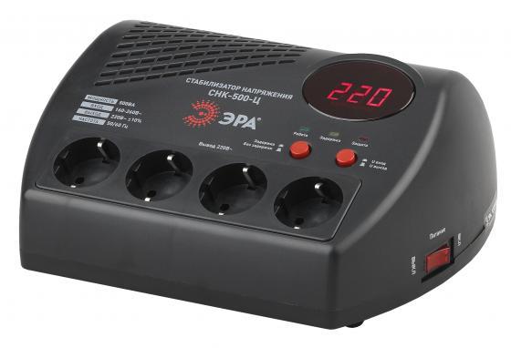 ЭРА Б0031071 СНК-500-Ц Стабилизатор напр. компакт, ц.д., 160-260В/220В, 500ВА эра sta 500