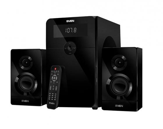 SVEN AC MS-2250, черный (80Вт, FM-тюнер, USB/SD, дисплей, ПДУ, Bluetooth) sven easy see 122 dd тв тюнер