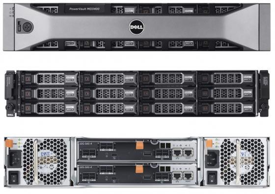 Дисковый массив Dell MD3800f x12 4x4Tb 7.2K 3.5 NL SAS 2x600W PNBD 3Y 2xCtrl 8G Cache (210-ACCS-26) дисковый массив dell pv md3400 210 accg 14