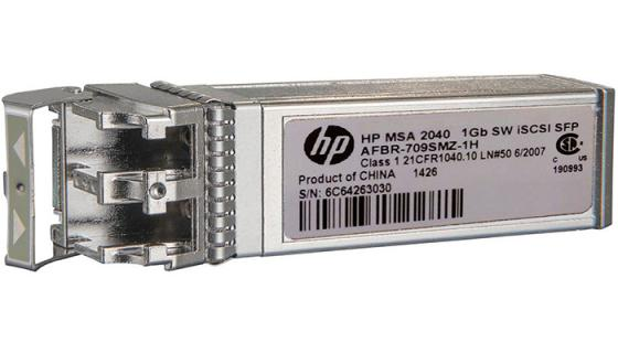 Трансивер HPE MSA 2050 1Gb RJ-45 iSCSI Channel SFP+ -Pack (C8S75B)