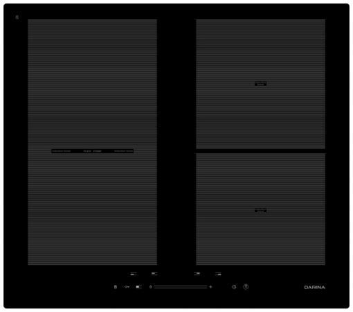 Варочная панель электрическая DARINA 5P9 EI304 B черный встраиваемая электрическая варочная панель smeg si 5633 b