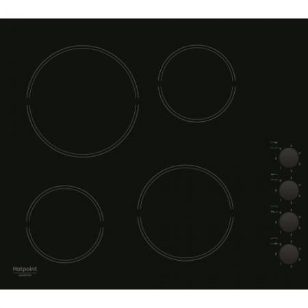 Варочная панель электрическая Ariston HR 629 C черный варочная панель электрическая ariston kis 644 ddz черный