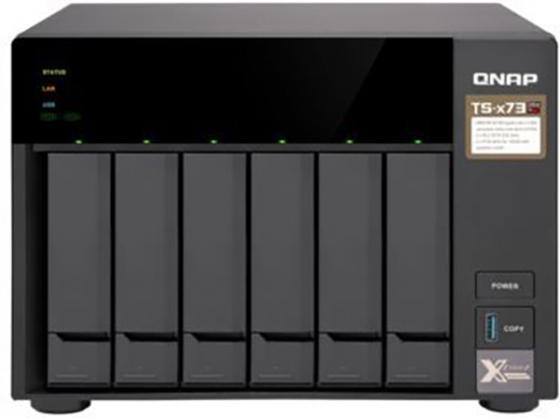 лучшая цена Сетевое хранилище NAS Qnap TS-673-4G 6-bay