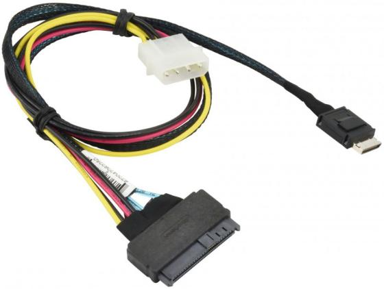 лучшая цена Кабель SuperMicro CBL-SAST-0956 55cm OCuLink to U.2 PCIE SFF-8639 with Power Cable