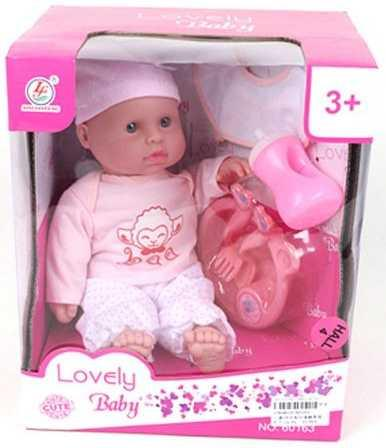 Любимый малыш в пижамке с аксесс., 5 предм., в ассорт., кор. пупс м н 34 см в кост аксесс 6 предм звук в ассорт кор