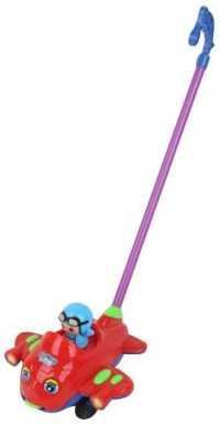 Каталка на палочке Наша Игрушка Пилот пластик от 1 года на колесах красный 8500-1 каталка на шнурке наша игрушка машина каталка авторалли пластик от 3 лет на колесах розовый q09 1 pink