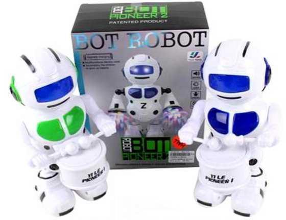 Робот электронный Наша Игрушка Барабанщик со звуком 58645