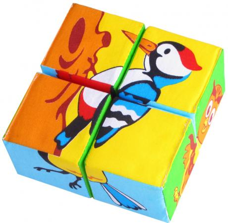 Мякиши Собери картинку Птицы мякиши кубики собери картинку зверята