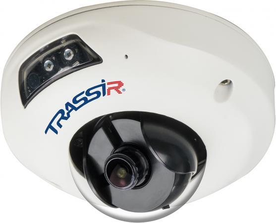 Камера IP Trassir TR-D4111IR1 CMOS 1/3 2.8 мм 1280 x 960 H.264 RJ-45 PoE белый trustfire tr a10 led 500lm 3 mode white light flashlight black 1 x 26650