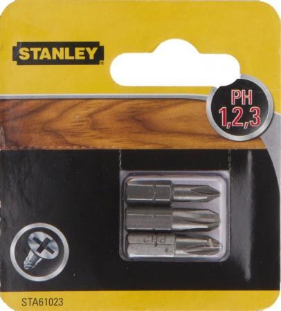 Бита STANLEY STA61023-XJ РH1/2/3х25мм 3 шт бита stanley sta62041 xj fatmax torsion pz2х25мм 2 шт