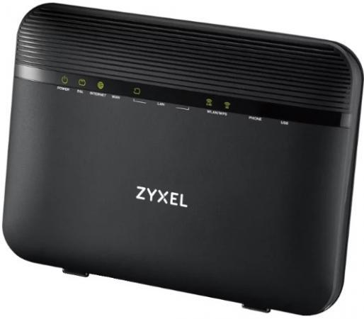 Маршрутизатор беспроводной Zyxel VMG8924-B10D (VMG8924-B10D-EU01V1F) AC1600 10/100/1000BASE-TX/VDSL/ADSL черный маршрутизатор беспроводной zyxel nbg 418n v2 nbg 418nv2 eu0101f 10 100base tx черный