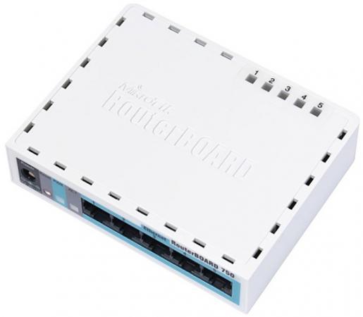 Маршрутизатор MikroTik RB750R2 5xLAN LAN белый