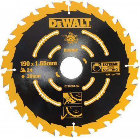 Круг пильный твердосплавный DEWALT DT10304-QZ по дереву 190/30 1.65 24 wz +18°