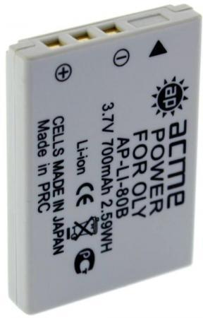 Аккумулятор для компактных камер и видеокамер AcmePower AP-LI-80B acmepower acmepower ap s004e li ion для компактных камер