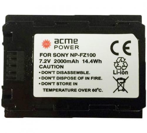 Аккумулятор для компактных камер и видеокамер AcmePower AP-NP-FZ100 аккумулятор для компактных камер и видеокамер acmepower ap nb 11l