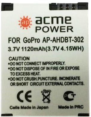 Аккумулятор для компактных камер и видеокамер AcmePower AP-AHDBT-302 аккумулятор для компактных камер и видеокамер acmepower ap ahdbt 302