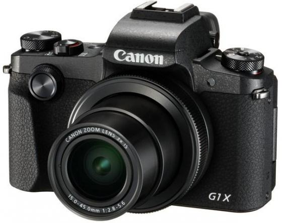 Фотоаппарат Canon PowerShot G1X MARK III черный 24.2Mpix Zoom3x 3 1080p SDXC/SD/SDHC CMOS IS opt 10minF rotLCD TouLCD VF 7fr/s RAW 60fr/s HDMI/WiFi/NB-13L