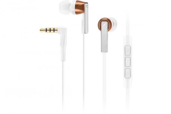 Наушники с микрофоном Sennheiser CX 5.00i белый 1.2м вкладыши в ушной раковине (506247) наушники sennheiser cx 2 00 g белые