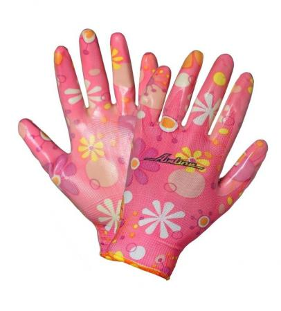 Перчатки AIRLINE AWG-NW-09 нейлоновые женские с цельным полиуретановым покрытием ладони перчатки хозяйственные airline нейлоновые с полиуретановым покрытием