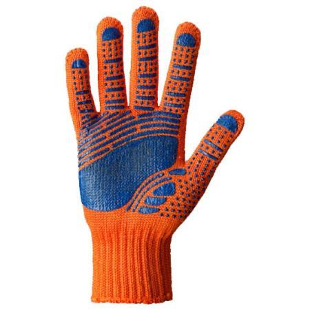 Перчатки DOLONI 794 с точкой ПВХ оранжевый/синий детская горка doloni развлечение желтый синий