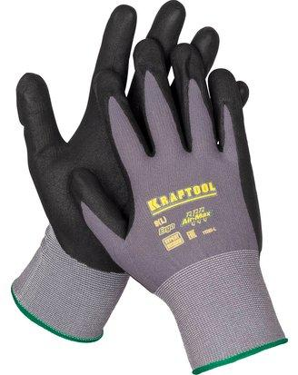Перчатки KRAFTOOL 11285-L expert нейлоновые 15 класс вспененное нитриловое покрытие l