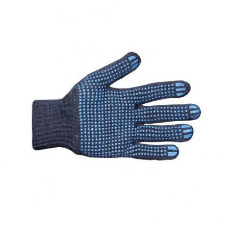 Перчатки NEWTON per10-10 х/б 10/6 Люкс черные с ПВХ точка комплект 10 штук перчатки newton per7 ангара люкс комбинированные спилковые