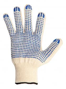 Перчатки NEWTON per 2-10 х/б 10/3 белые с ПВХ точка комплект 10 штук